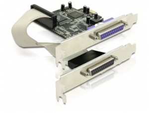Delock adaptér PCI Express x1 2xparalelní port