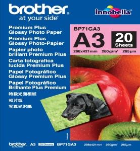 Brother fotopapír A3, premium glossy, 20 ks, 260g