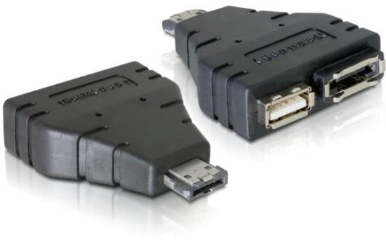 DeLock adaptér Power over eSATAp na eSATA/USB