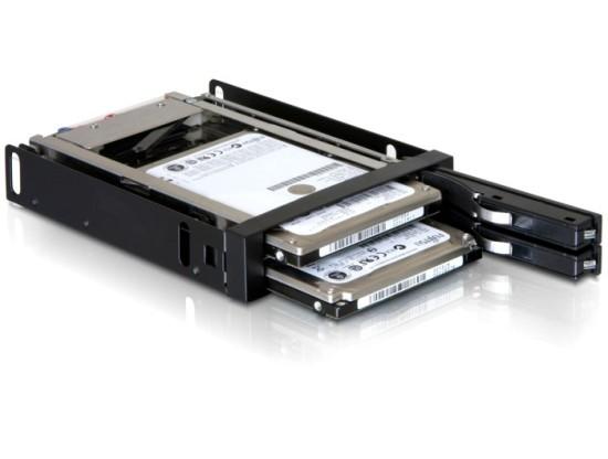 """DeLock výměnný rámeček 3,5"""" pro 2x 2,5"""" SATA HDD"""
