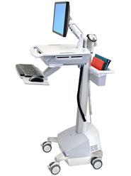 ERGOTRON StyleView® EMR Cart with LCD Arm, SLA Powered, pojízdný stojan, NTB/LCD, Klávesnice, myš, s napájením