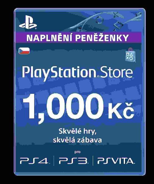 SONY PlayStation Live Cards CZK1000