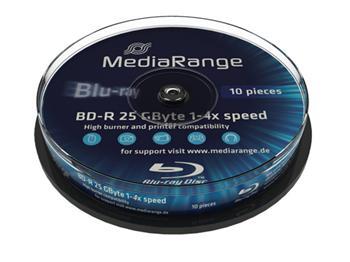 MEDIARANGE BD-R BLU-RAY 25GB 4x spindl 10ks
