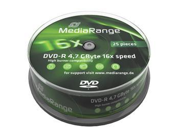 MEDIARANGE DVD-R 4,7GB 16x spindl 25ks