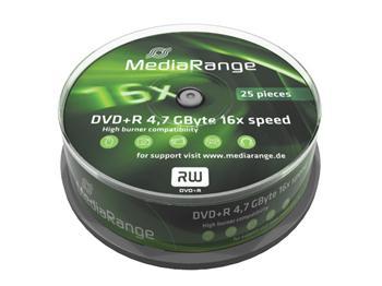 MEDIARANGE DVD+R 4,7GB 16x spindl 25ks