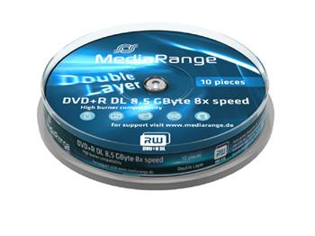 MEDIARANGE DVD+R 8,5GB 8x Dual Layer spindl 10ks