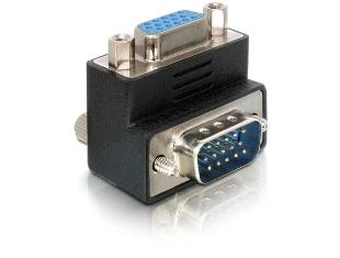 Delock adaptér VGA samec -> samice pravoúhlý