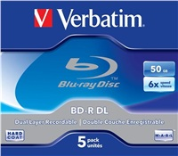 VERBATIM BD-R DL 50GB, 6x, jewel case 5 ks