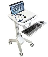 ERGOTRON StyleView® EMR Laptop Cart, SV40, Pojízdný multifunkční stojan na NTB, LCD, klávesnici, myš