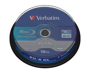 VERBATIM BD-R DL 50GB, 6x, spindle 10 ks