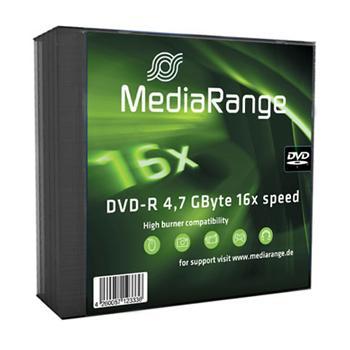 MEDIARANGE DVD-R 4,7GB 16x slimcase 5ks