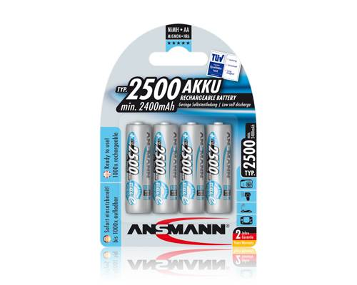 Ansmann akumulátor AA NiMH 2500 mAh (4 ks) maxE