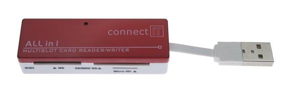 CONNECT IT čtečka paměťových karet ULTRA SLIM