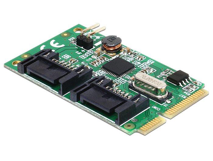 Delock MiniPCIe I/O PCIe full size 2 x SATA 6 Gb/s
