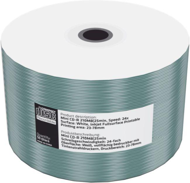 MEDIARANGE CD-R 8cm 200MB 24x folie 50ks Inkjet Printable