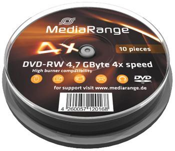 MEDIARANGE DVD-RW 4,7GB 4x spindl 10ks