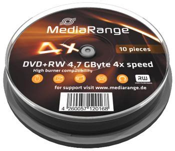 MEDIARANGE DVD+RW 4,7GB 4x spindl 10ks