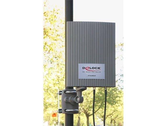 Delock LTE MIMO pásmo 1/3/7/20 anténa SMA 2-4 dBi všesměrová, venkovní, šedá