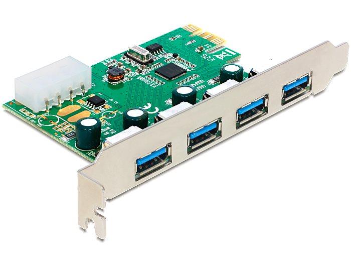 Delock PCI Express Karta > 4 x USB 3.0