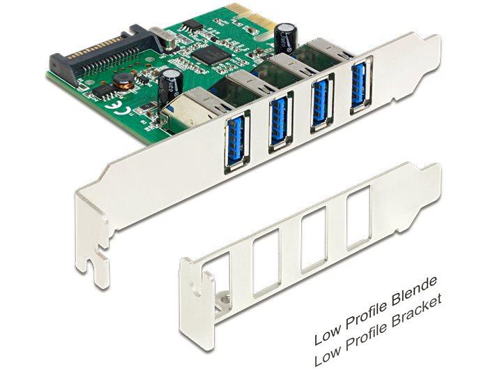 Delock PCI Express Karta > 4 x USB 3.0 +low profile
