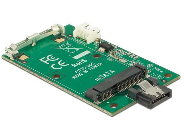Delock adaptér SATA 7 pin na mSATA full size