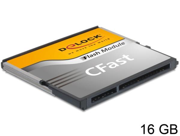 Delock SATA 6 Gb/s CFast Flash Card 16 GB