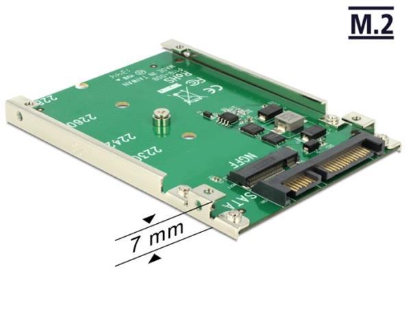 """Delock 2.5"""" Konvertor SATA 22 Pin > M.2 NGFF"""