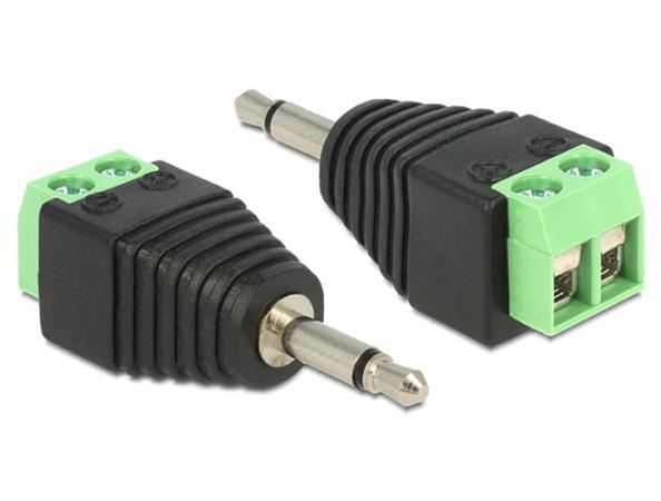 Delock adaptér Stereo jack 3.5 mm samec > Terminal Block 2 pin