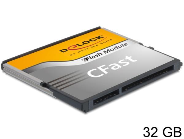 Delock SATA 6 Gb/s CFast Flash Card 32 GB