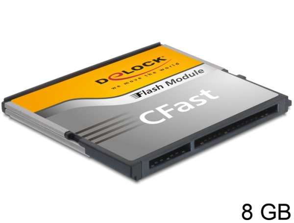 Delock SATA 6 Gb/s CFast Flash Card 8 GB široký teplotní rozsah