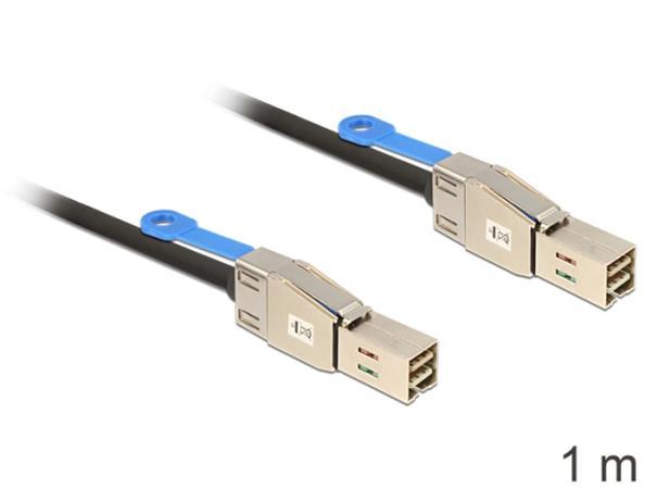 Delock Kabel Mini SAS HD x 4 SFF 8644 samec > Mini SAS HD x 4 SFF 8644 samec 1 m