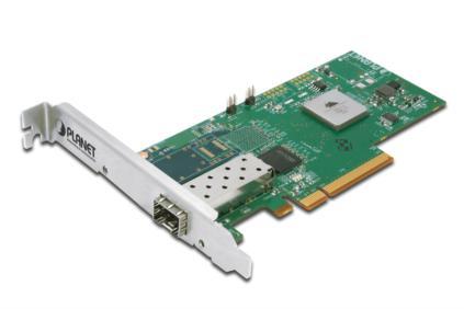 PLANET 10 Gigabit Ethernet PCI Express Card, 1x SFP Slot + 1x LC Connector Low Profile