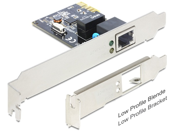 Delock PCI Express karta > 1 x Gigabit LAN +low profile