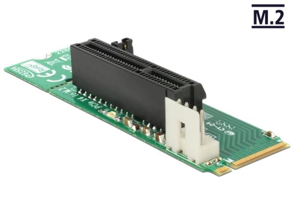 Delock Adapter M.2 NGFF Key M male > PCI Express x4 Slot