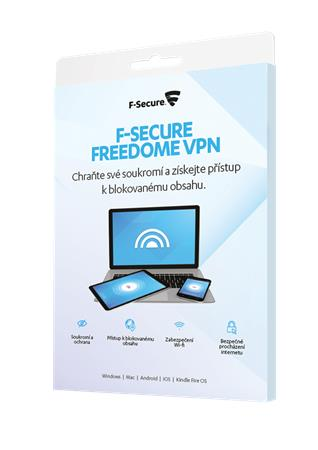 F-Secure Freedome VPN  - 3 instalace na 1 rok,  CZ - elektronicky