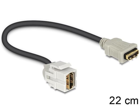 Delock Keystone modul HDMI samice > HDMI samice 250° s kabelem
