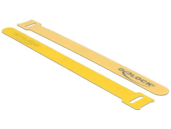 Delock Vázací pásky na suchý zip D 200 mm Š 14 mm 10 kusů žluté