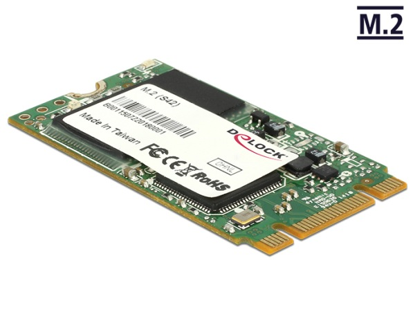Delock M.2 NGFF SATA 6 Gb/s SSD 64 GB (S42) Micron MLC -40°C ~ +85°C
