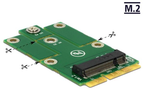 Delock Adapter MiniPCIe > M.2 NGFF