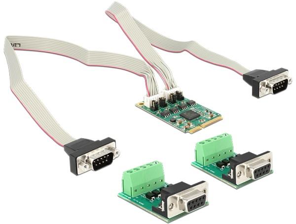 Delock modul MiniPCIe I/O PCIe full size 2 x sériový RS-422 / 485