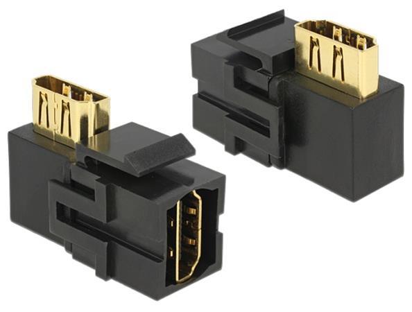 Delock Keystone Modul HDMI samice > HDMI samice 90° pravoúhlý černý
