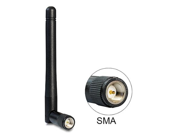 Delock WLAN 802.11 ac/a/h/b/g/n Antenna SMA 2 dBi omnidirectional joint