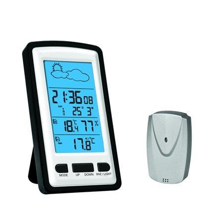 OMEGA digitální meteostanice LCD vnitřní/venkovní bezdrátová