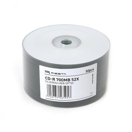 FIESTA CD-R 700MB 52X SILVER/SILVER SP*50