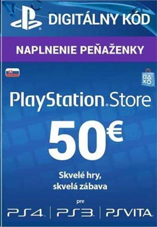 SONY PlayStation Live Cards Hang EUR50/SVK