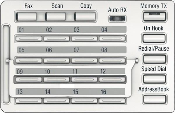 Konica Minolta MK-750 Fax/Scan ovládací panel pro Bizhub 266/306/225i