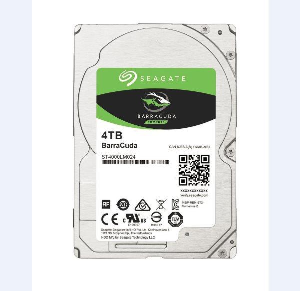 "Seagate BarraCuda 2.5"" HDD, 4TB, 2.5"", SATAIII, 128MB cache, 5.400RPM"