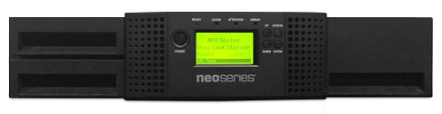 NEOs T24 2u/24-slot/1-LTO7 144TB / 360TB FC / 3-year Bronze warranty