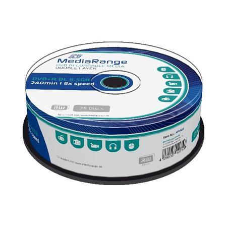 MEDIARANGE DVD+R 8,5GB 8x Dual Layer spindl 25ks