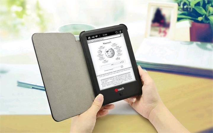 C-TECH PROTECT pouzdro pro C-TECH Lexis, hardcover, LSC-03, wake/sleep funkce, černé